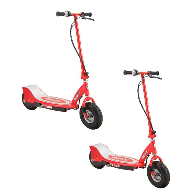 13113697 Razor E300 Electric Motorized Scooter, Red (2 Pack)