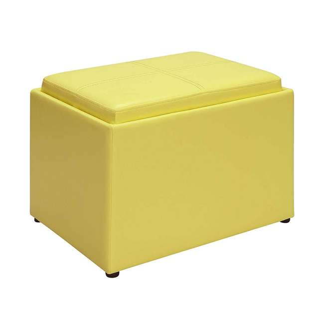 R8-160 Convenience Concepts R8-160 Designs4Comfort Accent Storage Space Ottoman, Yellow
