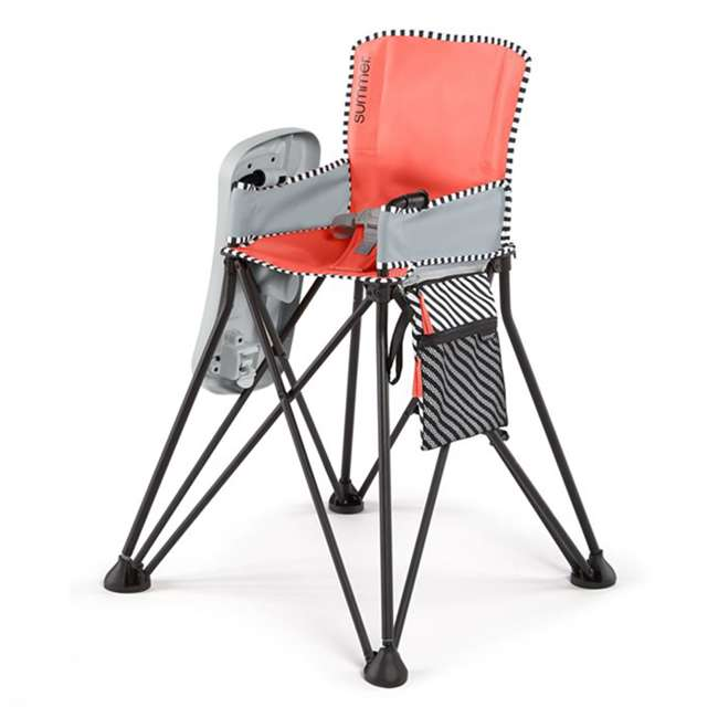 22544 Summer Infant 22544 Pop 'n Dine Sweet Life Edition Portable Highchair, Pink
