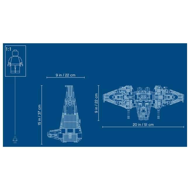 6251767 LEGO 75256 Kylo Ren's Shuttle Block Building Kit w/ 6 Star Wars IX Minifigures 8