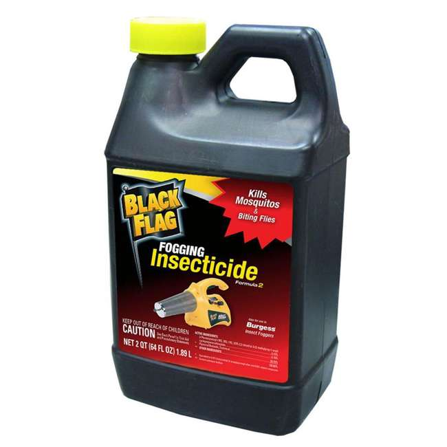 BGS-16960110N + BKF-190256 Burgess 960 Electric Insect Fogger & Black Flag 64-Oz Insecticide 2