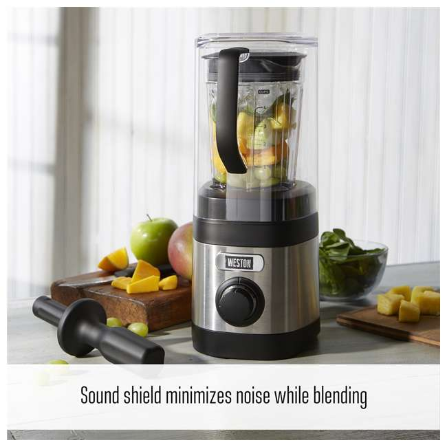 58918 Weston 58918 32 Ounce Blender with Sound Shield 2