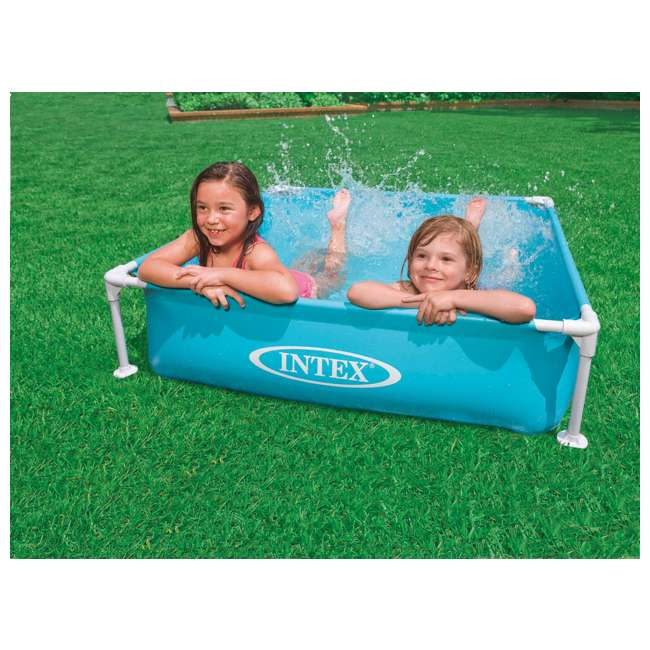 3 x 57173EP-U-A Intex Mini Frame Kiddie 4 x 4 Foot Beginner Frame Pool, Blue  (Open Box) (3 Pack) 1