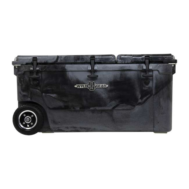 HC75-17SB WYLD 75 Quart Pioneer Dual Compartment Insulated Cooler w/ Wheels, Black/Silver 2