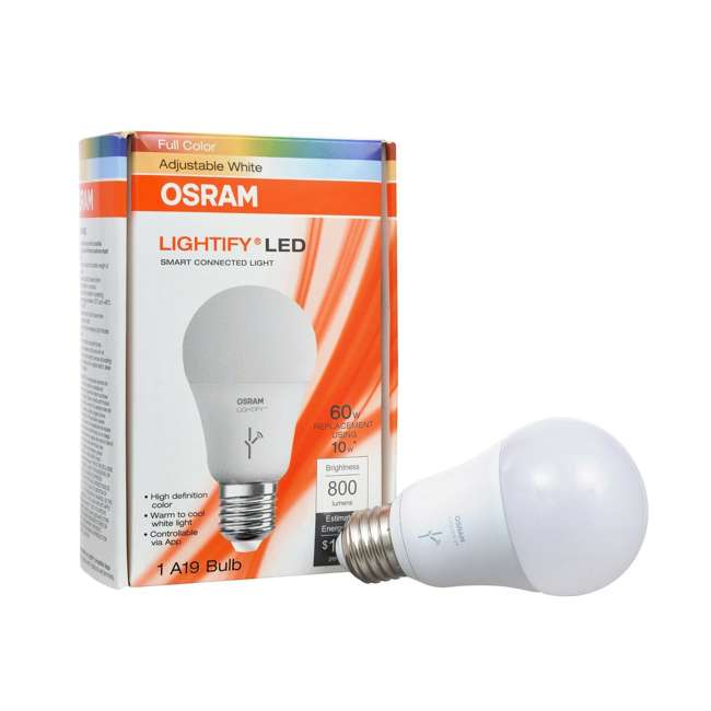 SYL-73693 Sylvania Lightify 60-Watt A19 White/Daylight/RGB Smart LED Bulb (Needs Hub) 1