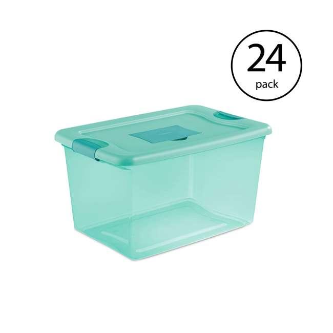 24 x 15077Y06 Sterilite 64-Quart Fresh Scent Storage Container (24 Pack)