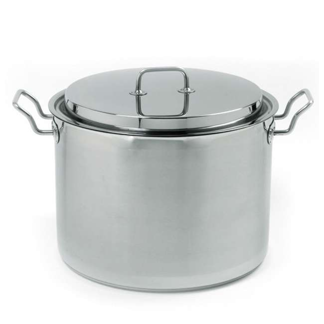657 Norpro 657 Krona Stainless Steel 16 Quart Heat Cooking Stock Pot with Lid