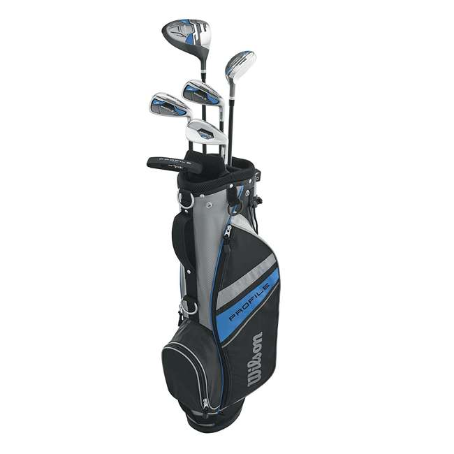 WGGC61000 Wilson 2017 Profile Complete Junior Right Hand Golf Set, Blue