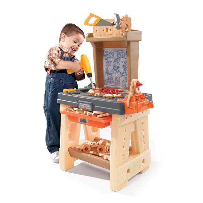 762700-U-A Step2 Pretend Play Toy Wood Working Tools Real Projects Workbench (Open Box) 1