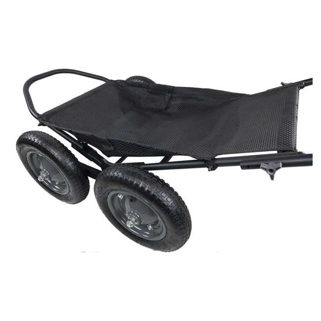 HWK-HA3420 Hawk Crawler 500 Pound Capacity Foldable Multi Use Game Recovery Cart, Black 2
