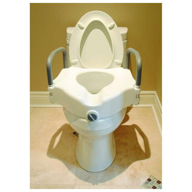 59013-TSEAT Clamp-On 4.5 Inch Raised Toilet Seat with Handles (2 Pack) 2