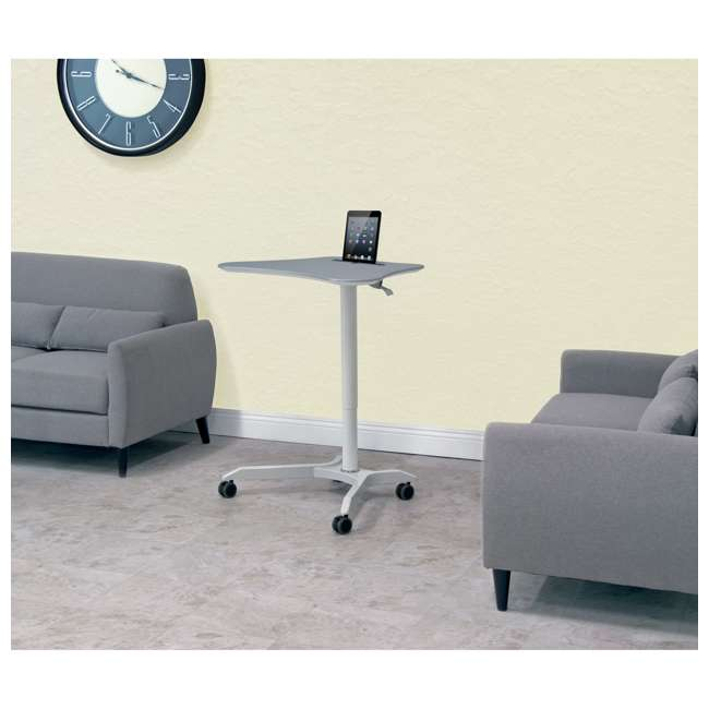 51234 Calico Designs 51234 Cascade Height Adjustable Cart & Work Station, White/Silver 5