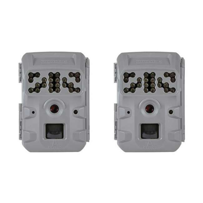 MCG-13337 Moultrie Invisible Flash Phone Compatible Game Trail Hunting Camera (2 Pack)