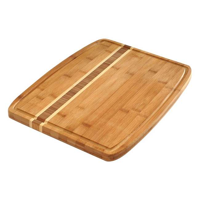 7638 Norpro 7638 Bamboo Wood 16 by 12 Inch Cutting Board with Juice Catching Groove