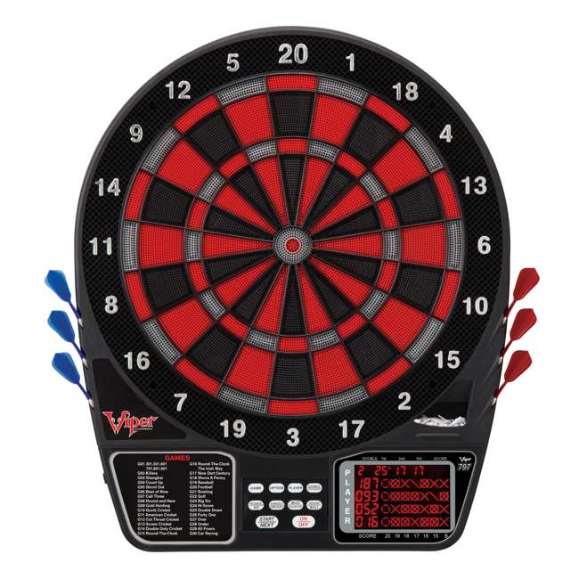 4 x VIP42-1017 Viper 797 Electronic Soft Tip Dartboard with Darts (4 Pack) 1