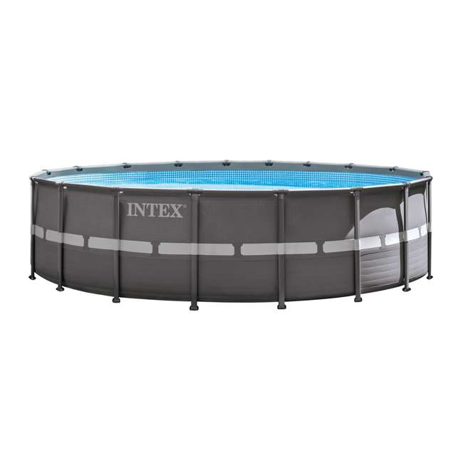 "26335EH + QLC-57610 Intex 18' x 52"" Ultra Frame Pool Set with Pump, Volleyball Set & Winterizing Kit 1"