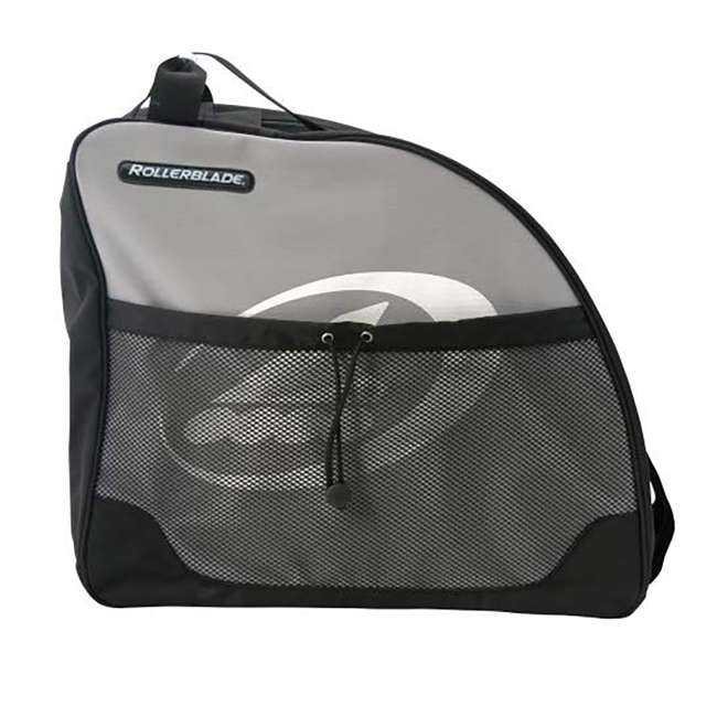 8B429160 Rollerblade Portable Inline Skate Bag with Double Zippers and Carry Straps, Gray