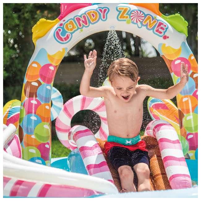 57149EP-U-A Intex  Kids Candy Zone Play Center Splash Pool w/ Waterslide (Open Box) (2 Pack) 2