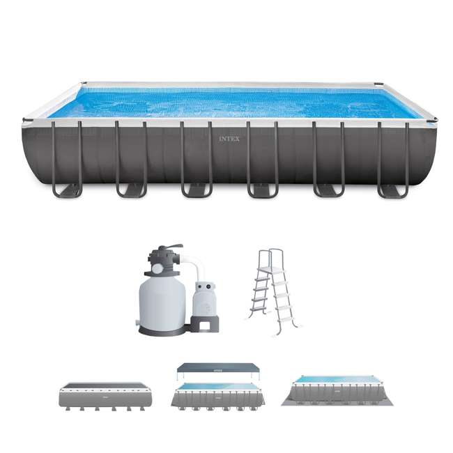 "26361EH Intex 24' x 12' x 52"" Ultra Frame Swimming Pool Set"