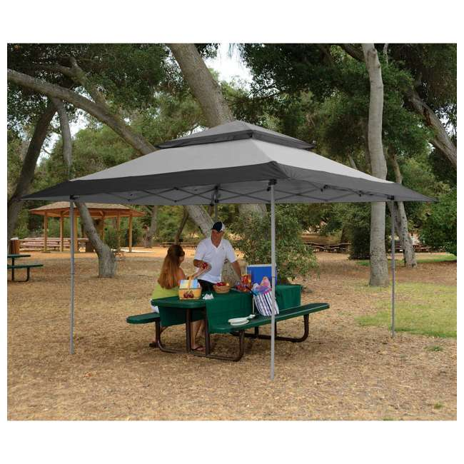 ZS13GAZGRY + ZS13SRGAZVM Z-Shade 13 x 13 Foot Instant Gazebo Canopy Outdoor Shelter with Bug Screen, Gray 2