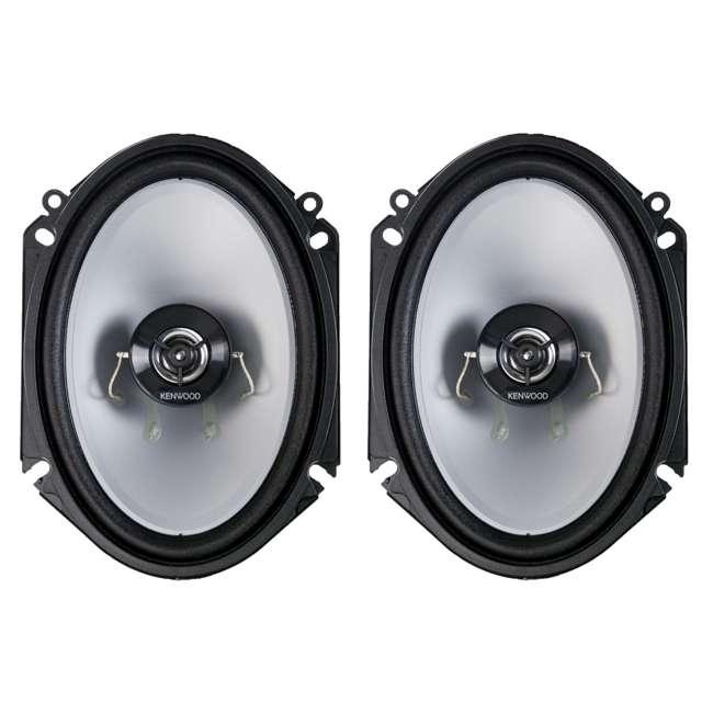 "KFC-C6866S-U-B Kenwood 6x8"" 250W 2-Way Car Audio Flush Mount Coaxial Speakers, Pair (Used)"