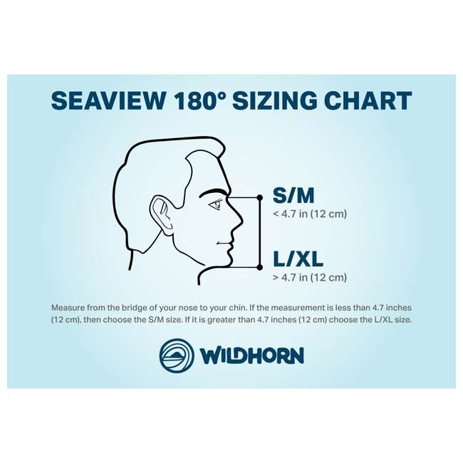 10 x SEAVIEW-SM-BLUE Wildhorn Seaview 180-Degree Small/Med. Full Face Snorkel Mask, Blue (10 Pack) 7