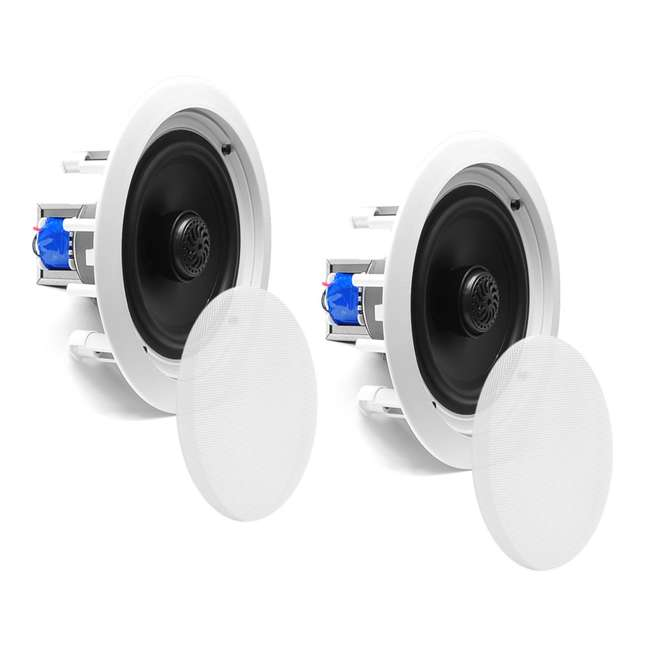 4 x PDIC60T Pyle Home 6.5-Inch 250W 2-Way In-Wall In-Ceiling Speakers, Pair (8 Pack) 2