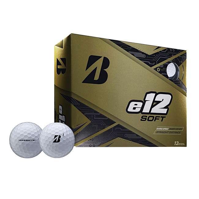 9CWX6D Bridgestone Golf e12 Soft 3-Piece Golf Balls, White