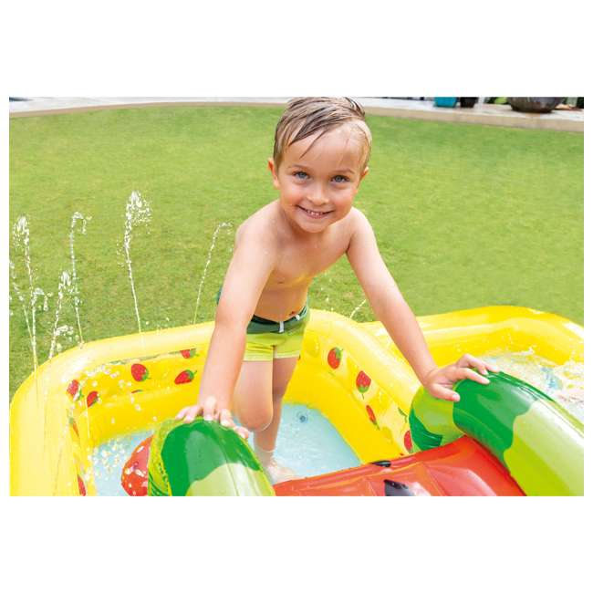 57158EP Intex 57158EP Fun'N Fruity Outdoor Inflatable Kiddie Pool Play Center with Slide 2