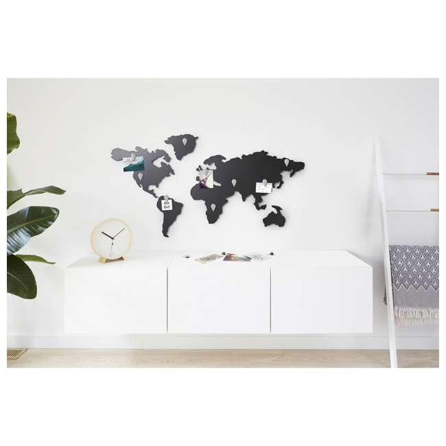1008050-624 Umbra Mappit Metal World Map Wall Art Decor 3