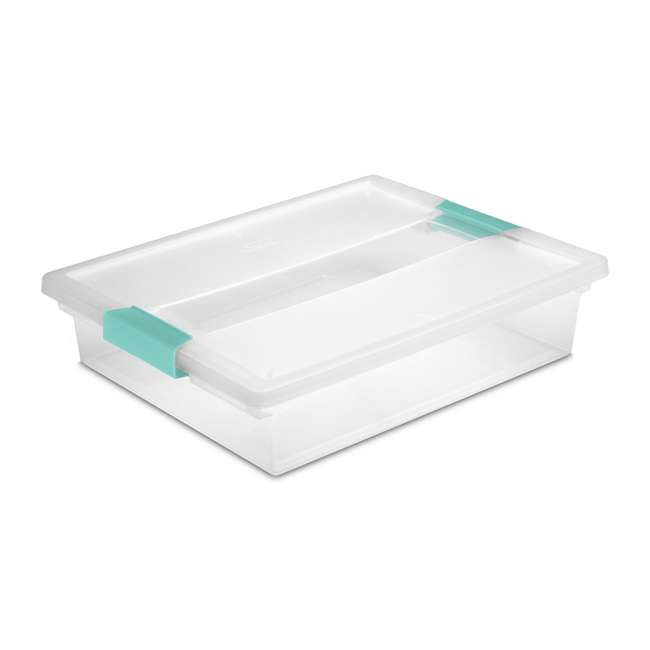 30 x 19638606-U-A Sterilite Large File Clip Box Clear Storage Tote Container (Open Box) (30 Pack)