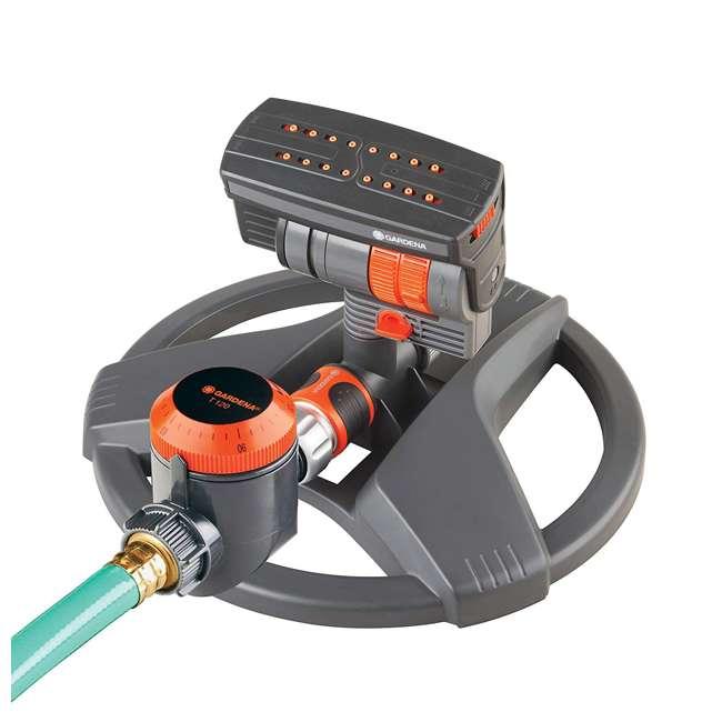 GARD-6984BZMX Gardena ZoomMaxx Oscillating Sprinkler & Sled Base w/ Water Timer 1