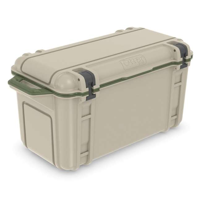 77-54869 OtterBox Venture Heavy Duty Outdoor Camping Fishing Cooler 65-Quarts, Tan/Green 1