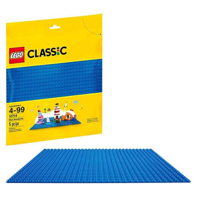 3 x 6213433 32 x 32 LEGO Baseplate, Blue (3 Pack) 1