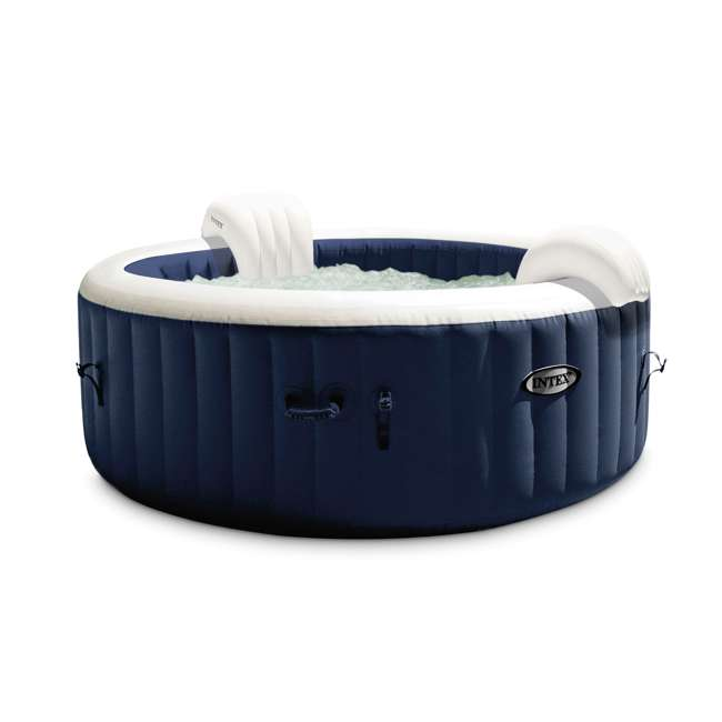 28429E Intex PureSpa Plus 4 Person Portable Inflatable Hot Tub Bubble Jet Spa, Blue