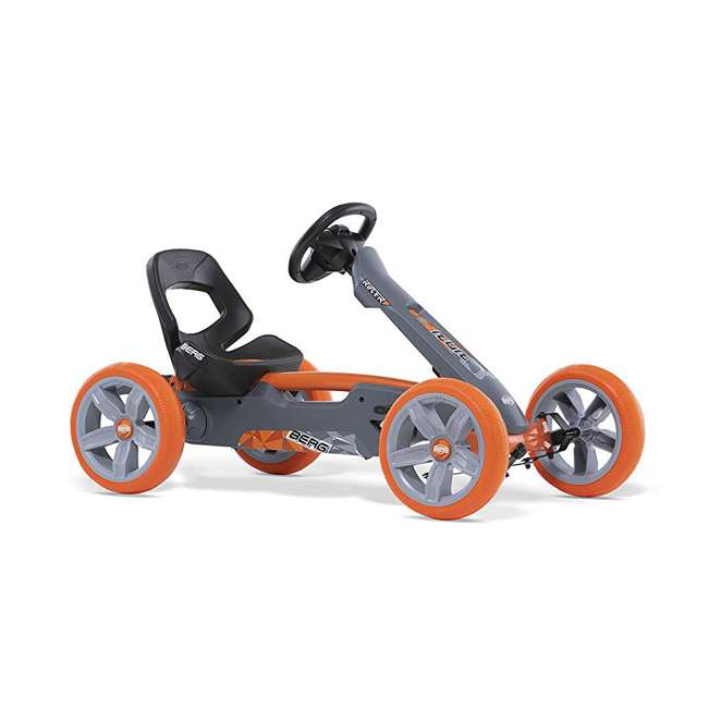 24.60.01.00 BERG Reppy Racer Kids Pedal Go Kart Ride On Toy w/ Axle Steering, Gray & Orange