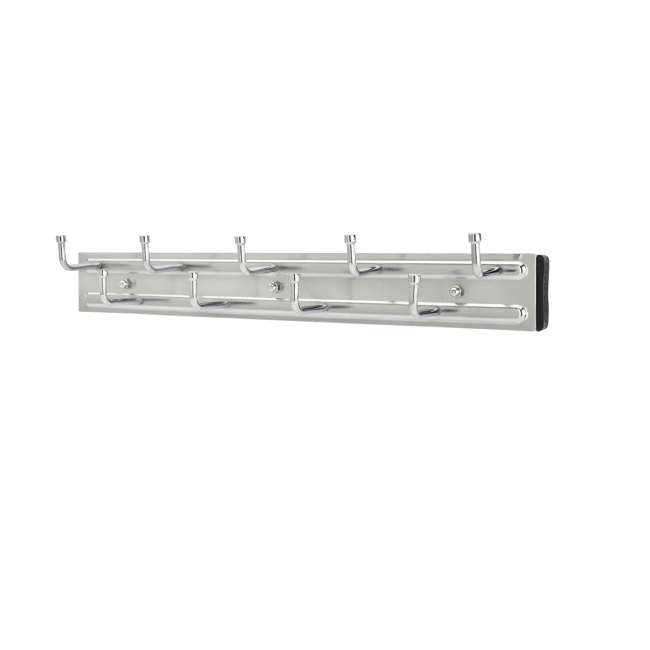 BRC-14CR Rev-a-Shelf BRC-14CR 14 Inch Wall Mounted Pullout Belt Rack, Chrome (2 Pack) 1