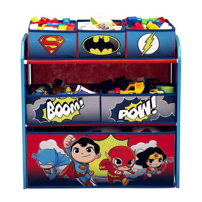 TB83438SP-1217 Delta Children DC Comics Super Friends Multi Toy Box Bin Wood Storage Organizer  2