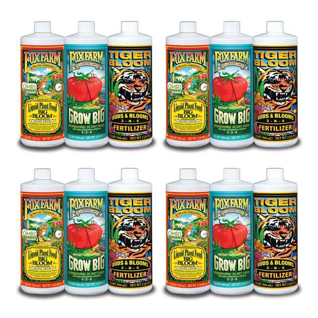 4 x FX14050 FoxFarm Hydro Formula Trio 3 Liquid Plant Fertilizers (4 Pack)