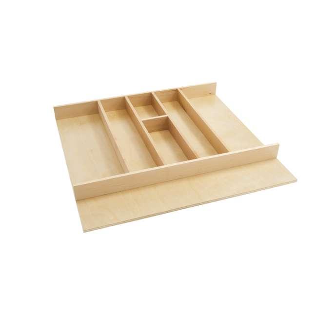 4WUT-3SH Rev-A-Shelf 4WUT-3SH Kitchen Drawer Shallow Wood Utility Tray Insert, Natural
