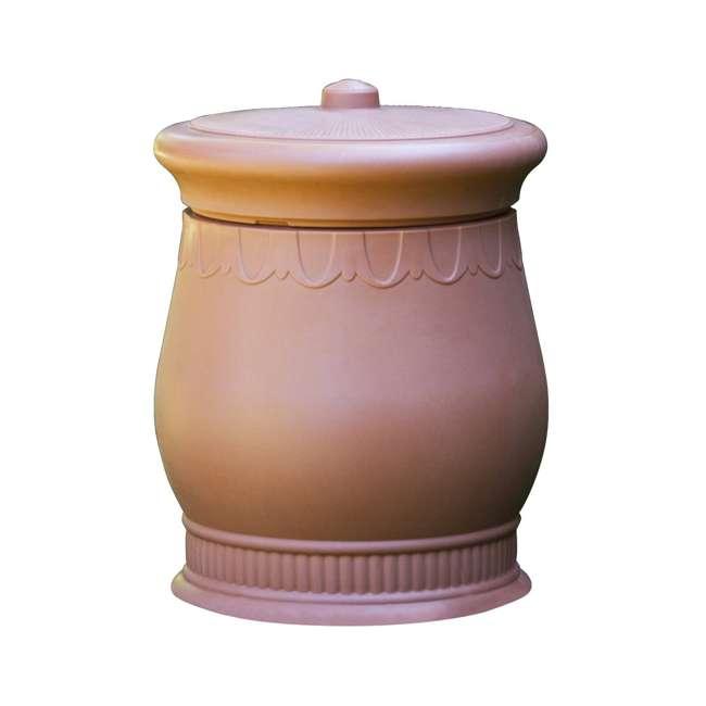 SV-URN-TC Good Ideas Savannah Decorative 30 Gallon Storage & Waste Basket Urn, Terra Cotta