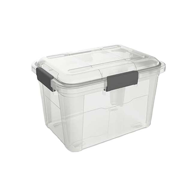 6 x FBA32225 Ezy Storage Weather Proof IP65 18 Liter Plastic Storage Container w/Lid (6 Pack) 5