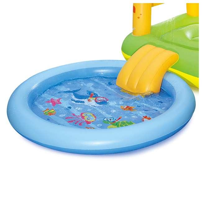 Summer Waves Inflatable Sand Castle Play Center With Kiddie Pool Slide Ka0016000167