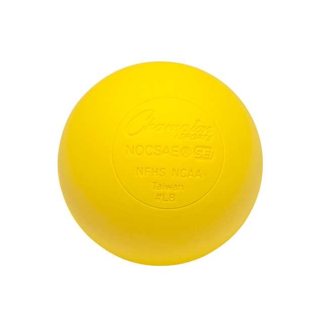 LBYN36 Champion Sports Official Rubber Bulk Lacrosse Lax Balls 36 Count Bucket, Yellow 2