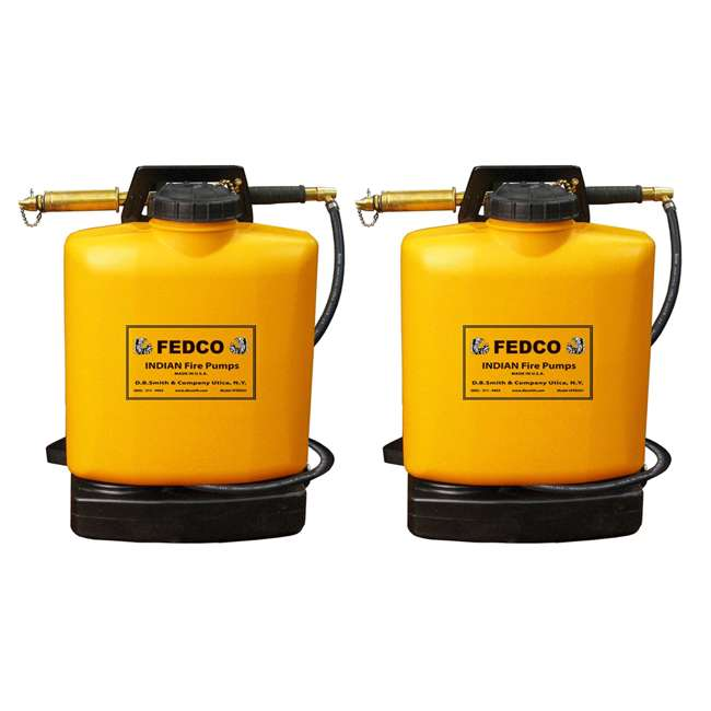 FDC-190387 Indian FEDCO 5-Gallon Backpack Fire Hand Water Extinguisher (2 Pack)