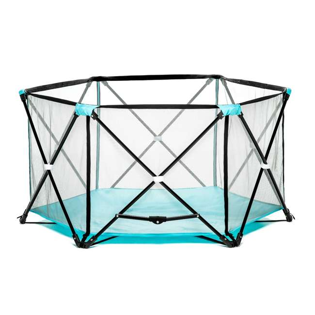 1375 DS Regalo 6 Panel My Play Deluxe Portable Foldable Play Yard with Canopy (Used) 2