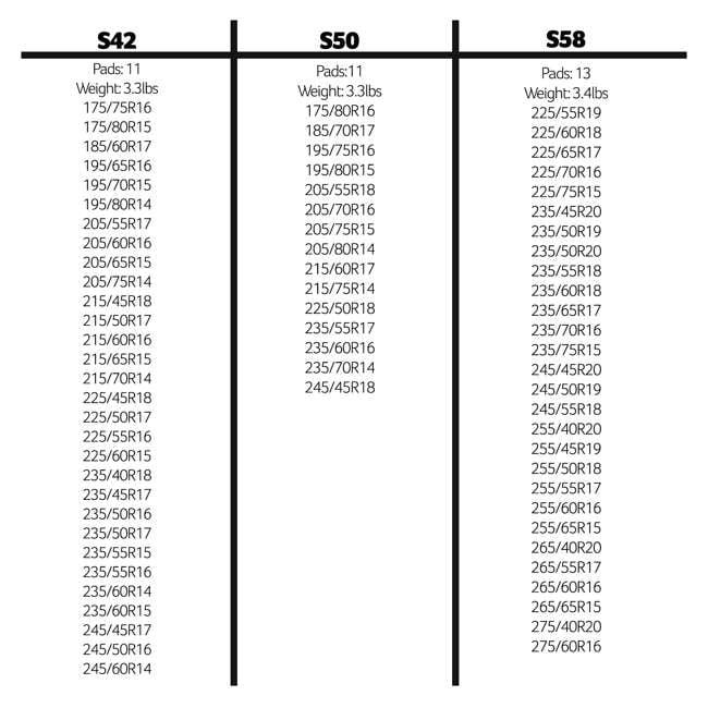 S50 Peerless S50 SuperSox Vehicles/Light Truck Snow Strip Pads, Pair 1