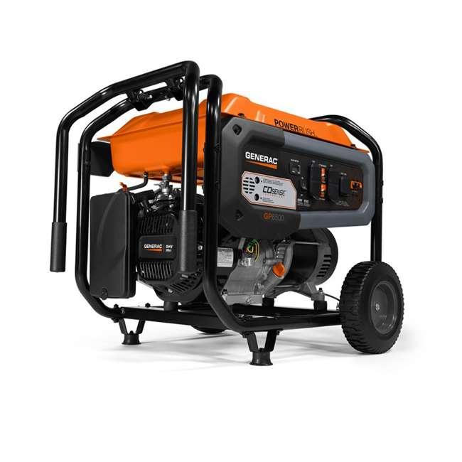 GNRC-7690 Generac 7690 GP6500 COSense 6500 Watt 389cc Portable Wheeled Gas Power Generator
