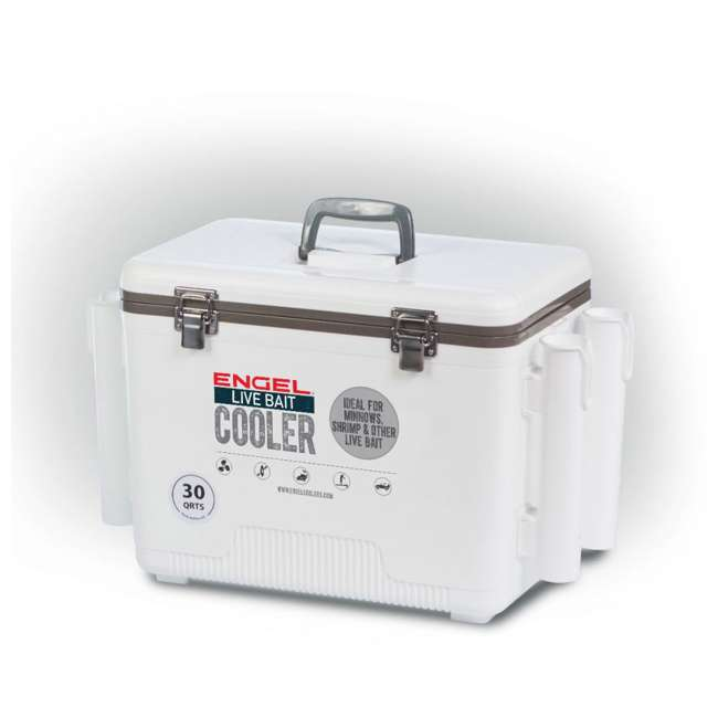 LBC30-RH Engel 30-Quart Bait Dry Box and Cooler with Rod Holders (2 Pack) 1