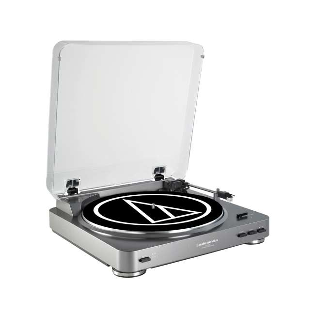 AT-LP60-OB Audio-Technica AT-LP60 Fully Automatic Stereo Turntable, Silver